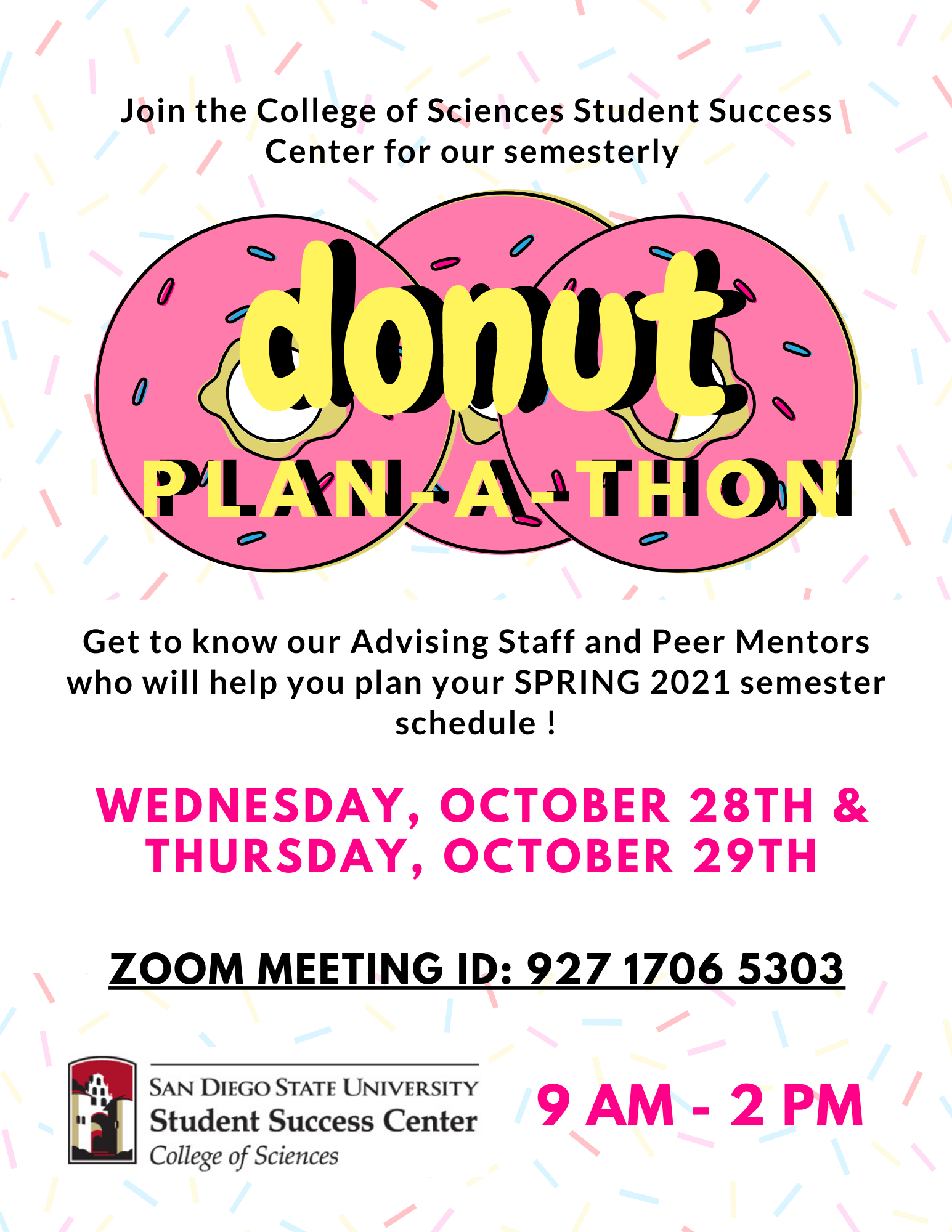 Donut Plan-A-Thon Flyer Fall 2020
